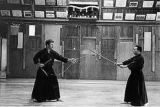 A young Pascal Krieger Sensei practicing the kusarigama