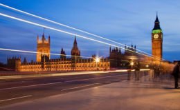 The Houses of Parliament from Westminster Bridge