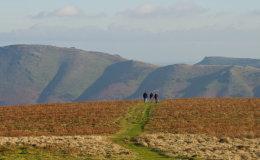 Walkers on The Longmynd