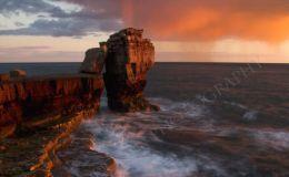Pulpit Rock At Sunset (Portrait)
