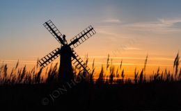 Thurne Mill Sillhouette - Panorama