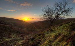 Sunrise on The Long Mynd
