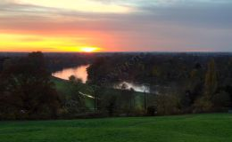 Sunset Over Petersham Meadows