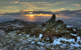 Sunset on The Stiperstones