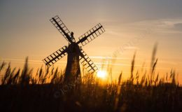 Sunset At Thurne Mill - Panorama