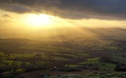 Sun Rays From Titterstone Clee