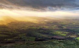 Sun Rays From Titterstone Clee - Panorama 2
