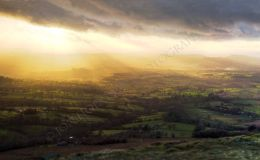 Sun Rays From Titterstone Clee - Panorama 1
