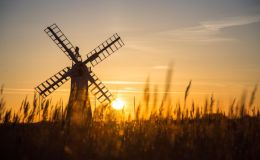 Thurne Windmill At Sunset