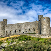 Harlech Castle in the Clouds