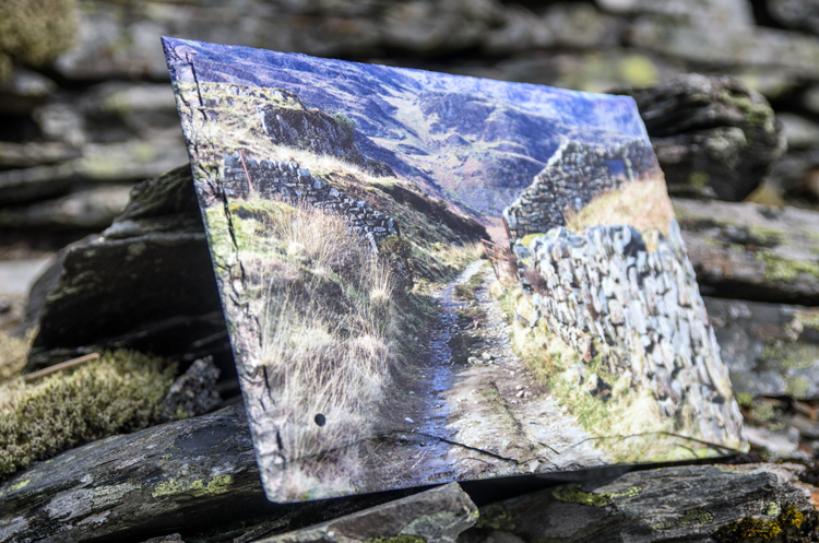 Example of our images printed on to local Welsh Slate