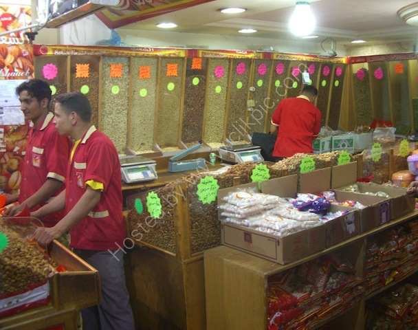 Nut Shop at night, Aqaba