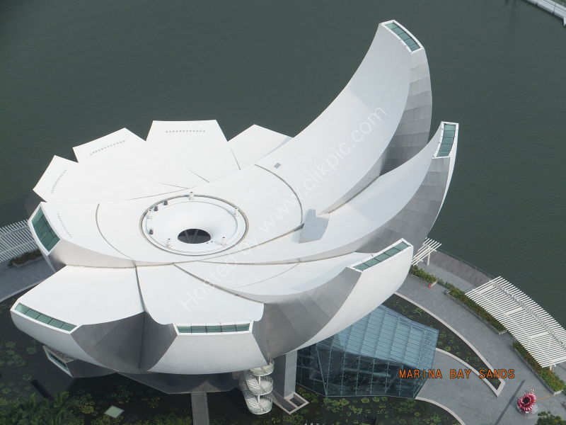 Art Science Museum view from above, Marina Bay