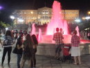 Parliament & Fountain in Constitution Square at Night, Athens