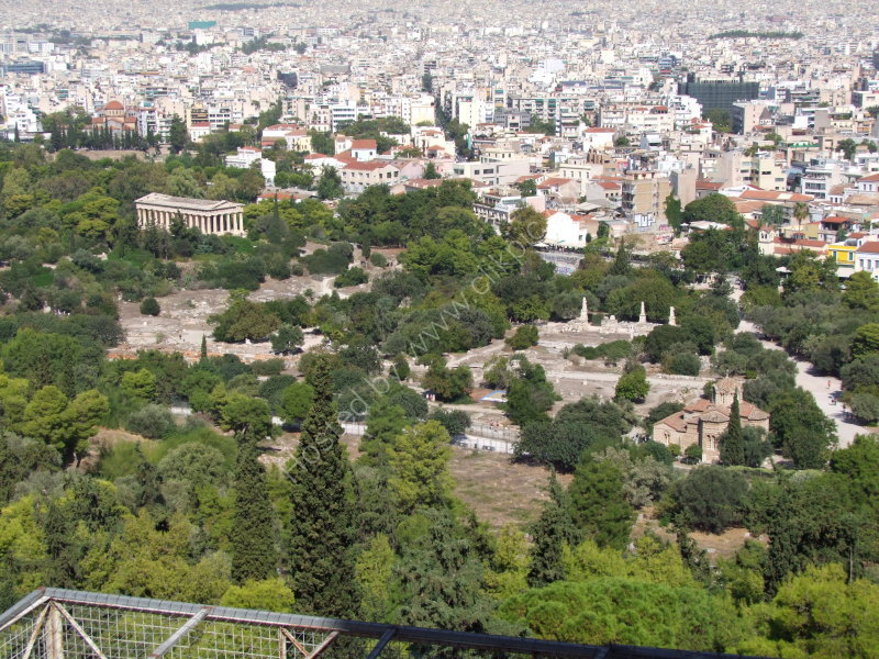 View of Athens from the Acropolis & Temple of Zeus