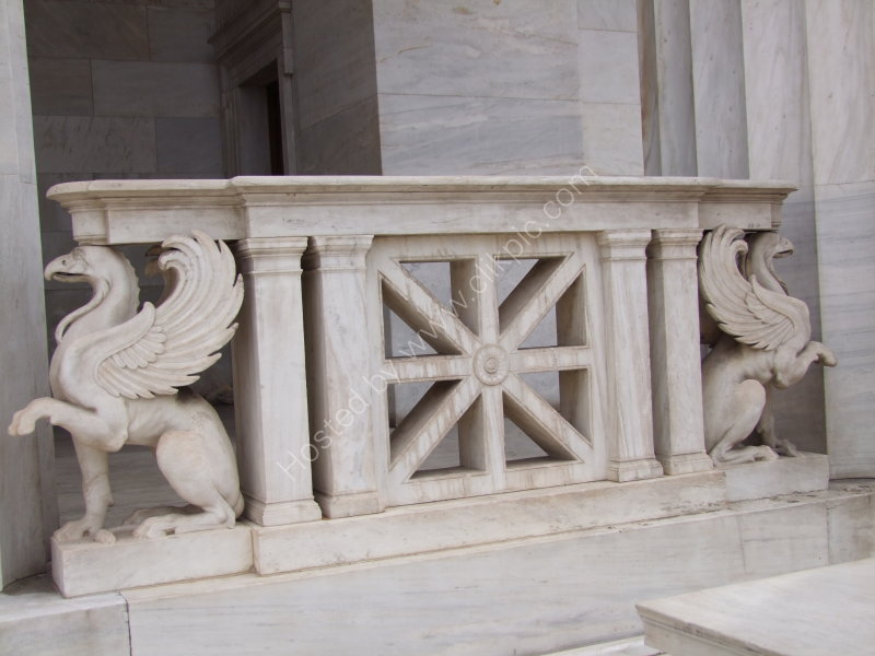 Detail of National Library of Greece, Athens