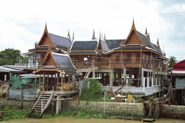 Traditional New Building, Mae Nam Chao Phrayal River, Ayutthaya to Bangkok
