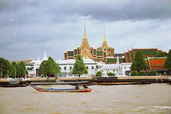 Marble Temple View from Mae Nam Chao Phrayal River, Bangkok