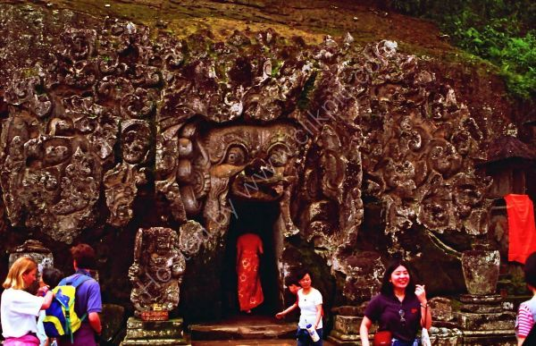 Carved Rock Entrance, Temple in Mountains, Bali