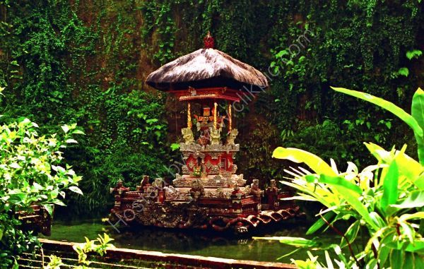 Shrine, Balinese Temple in Mountains, Bali