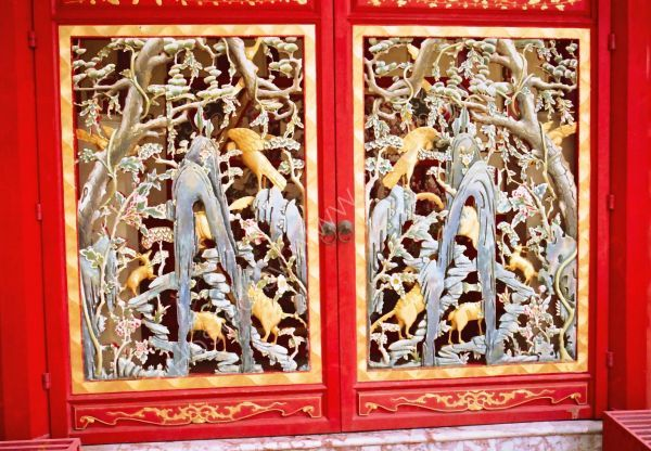 Carved Door Detail, Chinese Pavillion, Summer Palace, Bang Pa In