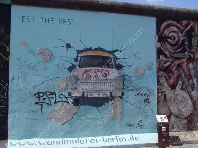 Mural of Trabant, Berlin Wall