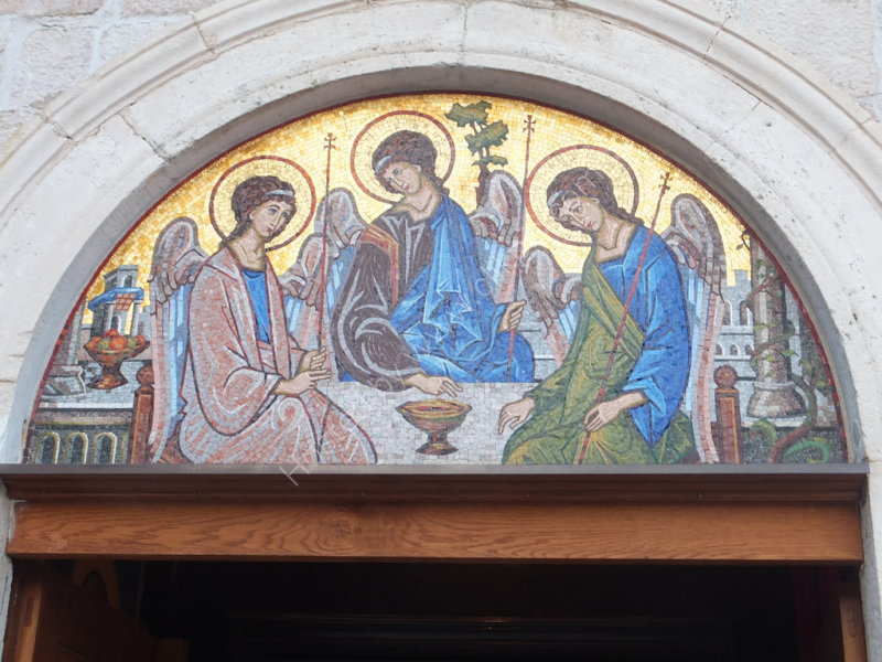 Mosaic above Church Door, Old Town Budva