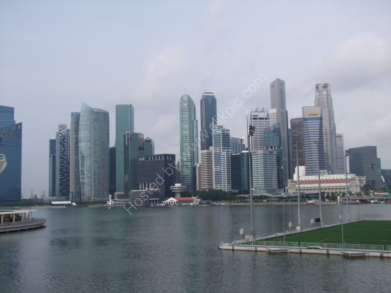 Skyscraper Buildings, Marina Bay