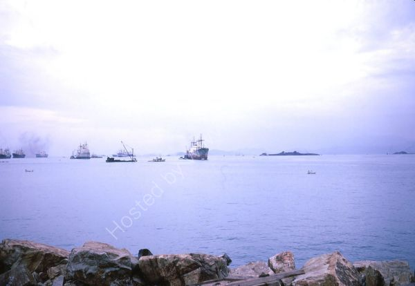 Capsised QE2 Ship, South China Sea, Hong Kong