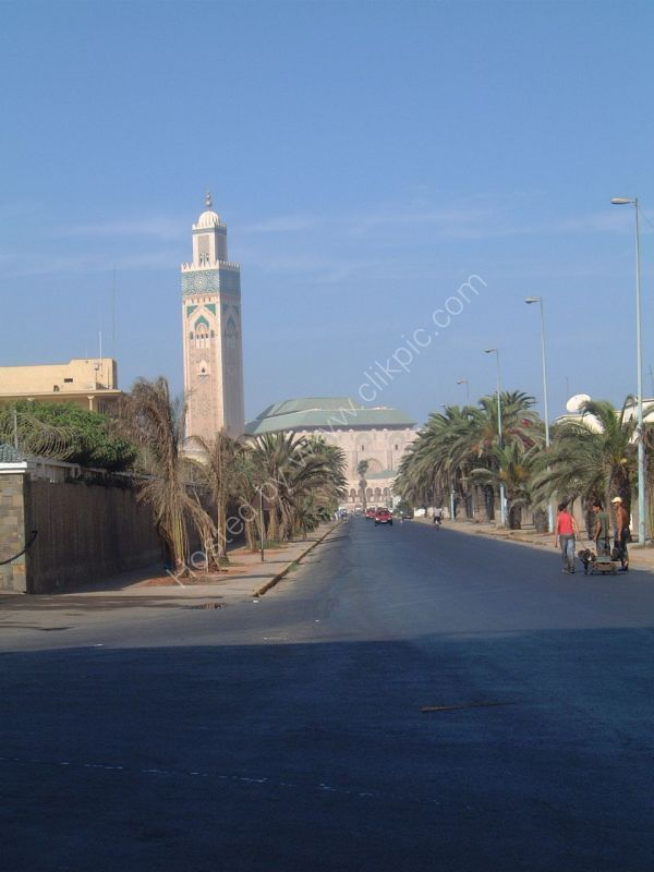 Distant View of Hassan II Mosque, Casablanca