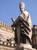 Statue outside Cathedral, Palermo