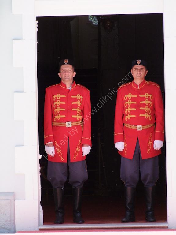 Guards at the Mayor's Palace, Cetinje