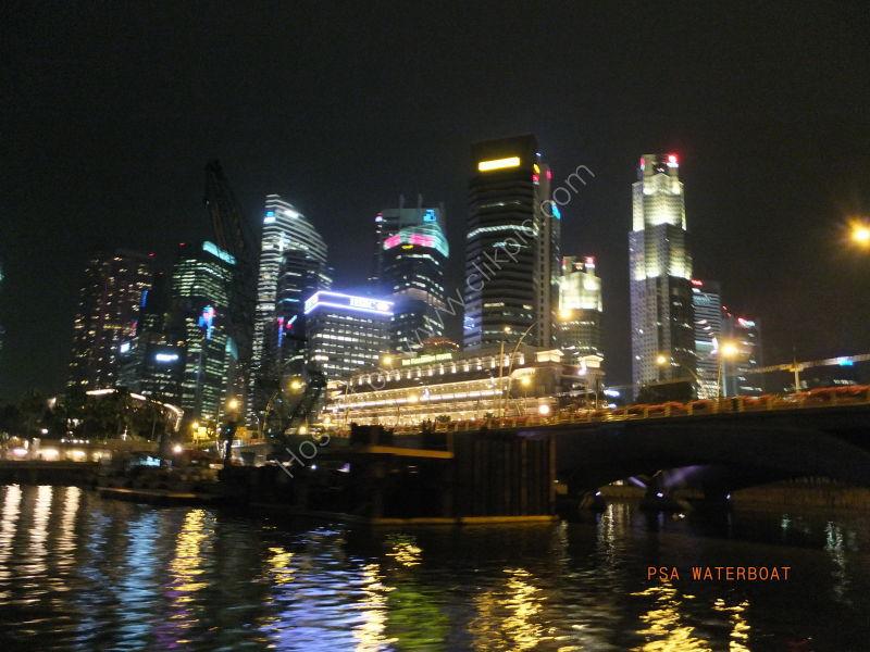 Skyscrapers at Night, Marina Bay