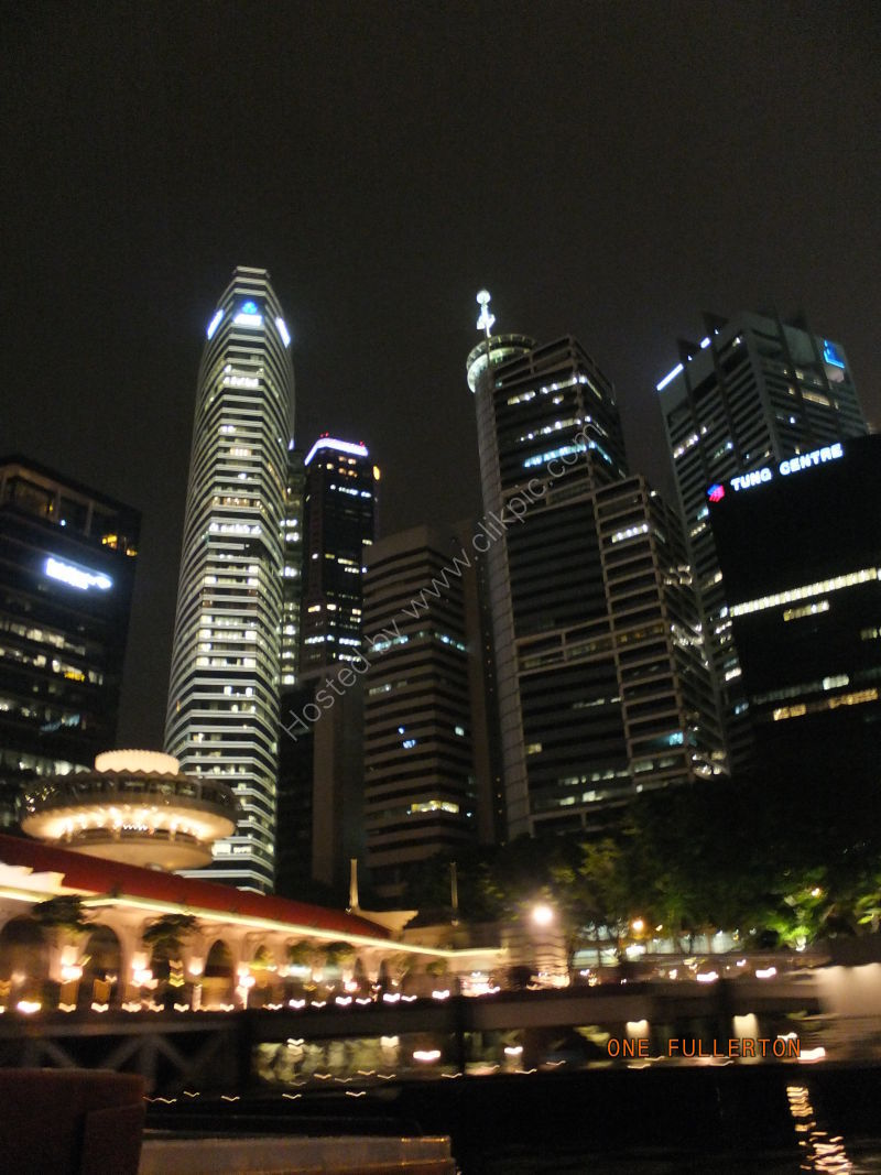 Skyscrapers at Night, Marina Bay