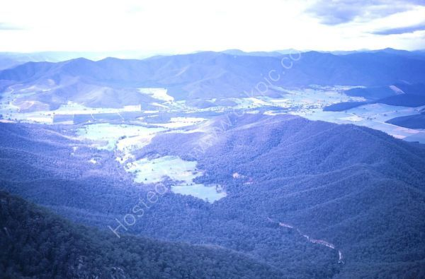 View of Countryside from La Chalet, Mount Buffalo, Victoria State
