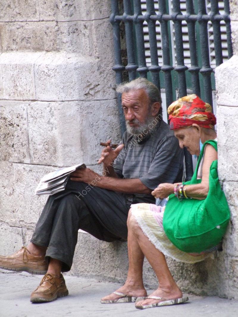 Elderly Cubans, Obispo Street, Havana