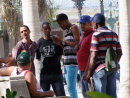 Cuban Men discussing baseball
