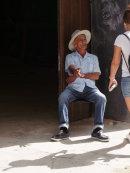 Cuban in discussion, Havana