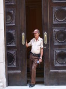 Cuban Security Guard, Ministry of Finance, Obispo Street, Havana