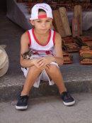 Cuban Child, Plaza Armas, Havana