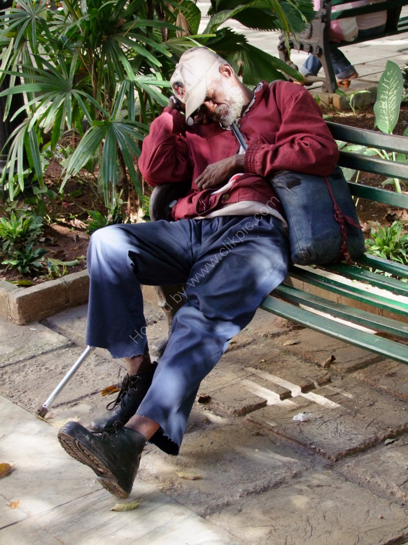 Cuban Sleeping in the Park