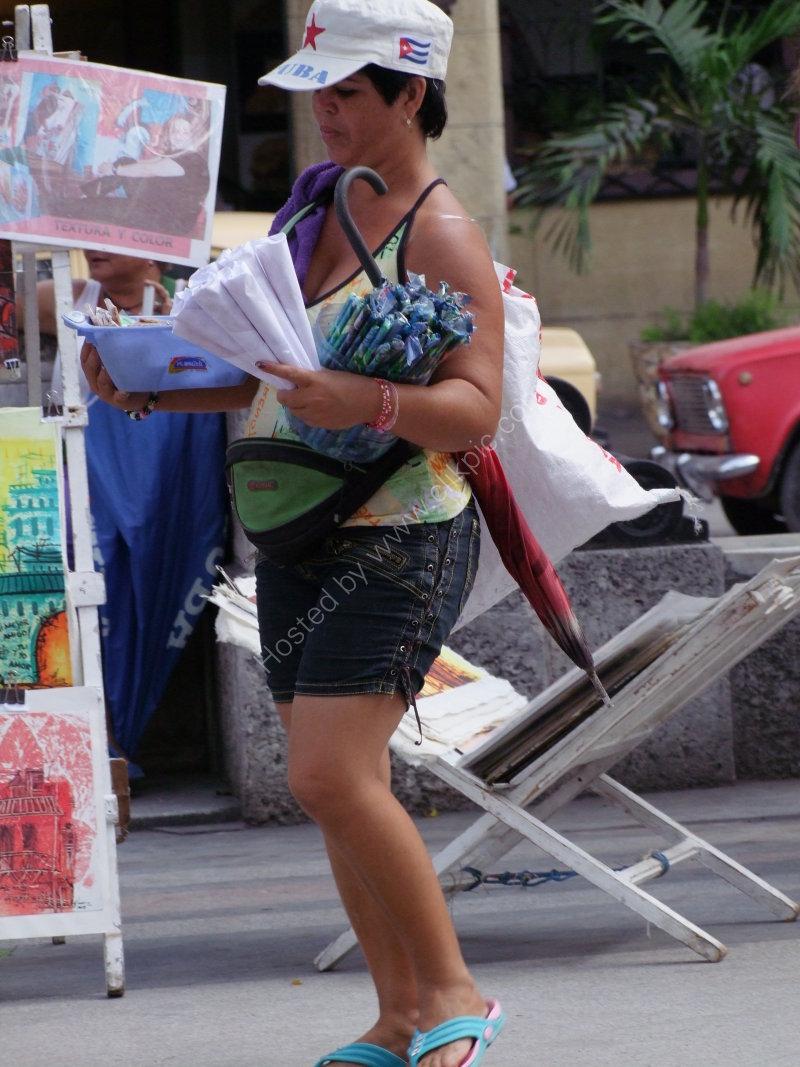 Cuban Peanut & Sweet Seller, Prado, Havana