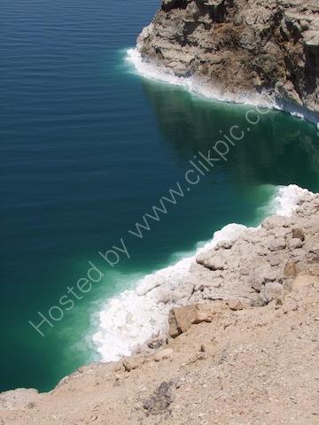 Salt Crust on Rocks, Dead Sea