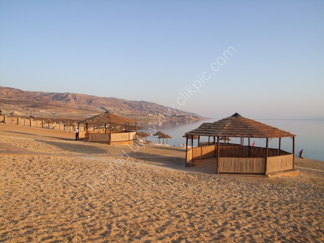 Artificial Beach on Dead Sea, Holiday Inn