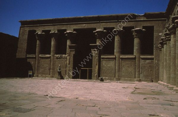 Entrance with Granite Hawks, Edfu