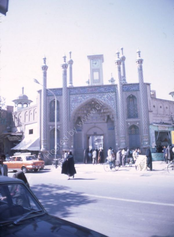 Entrance to Blue Mosque, Quom