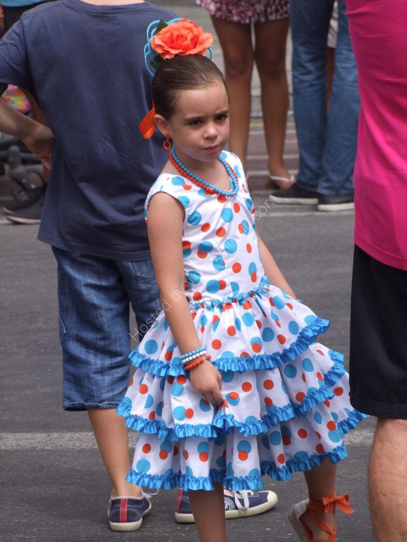 Girl in Costume, Malaga Festival