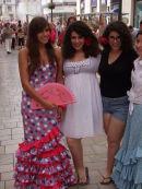Spaniard Women in Costume, Malaga Festival