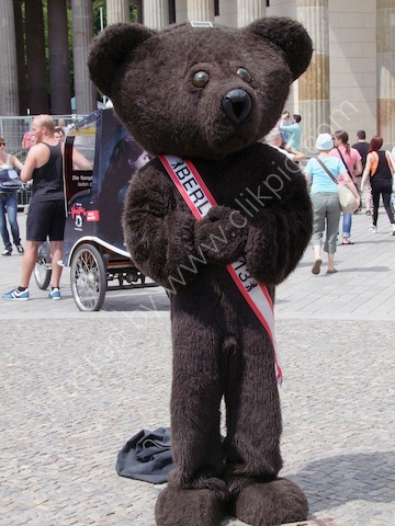 Bear Costume at Gay Festival, Parisa Platz, Berlin