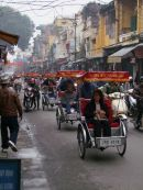 Cyclo's in Old Town, Hanoi